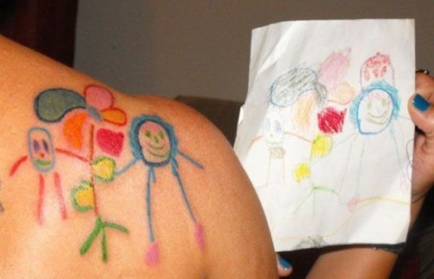 Kids drawings as tattoos the williams family blog