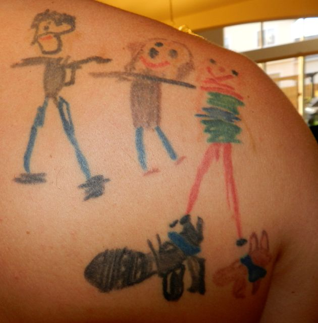 Kids Drawings As Tattoos