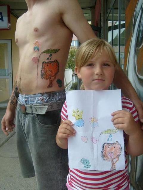 Kids drawings as tattoos the williams family blog for Kid tattoos for moms